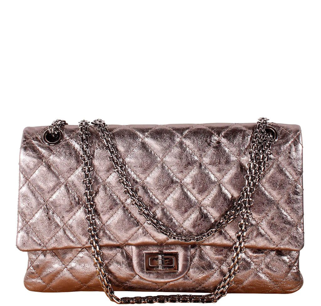 a07f0d2064b5 Chanel 2.55 Bag Metallic Calfskin Pink