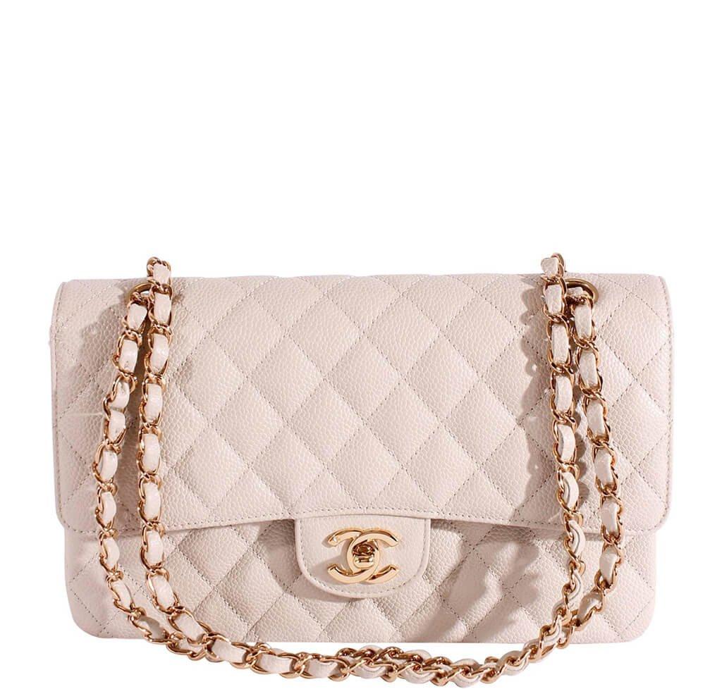 89b3c45564c3 Chanel 2.55 Medium Bag Light Gray Caviar | Baghunter