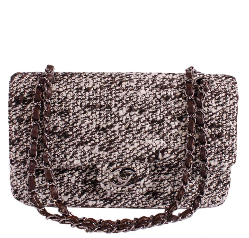 5f2d0f21abf9 Chanel 2.55 Medium Bag Tweed Multi-Color - Silver Hardware | Baghunter