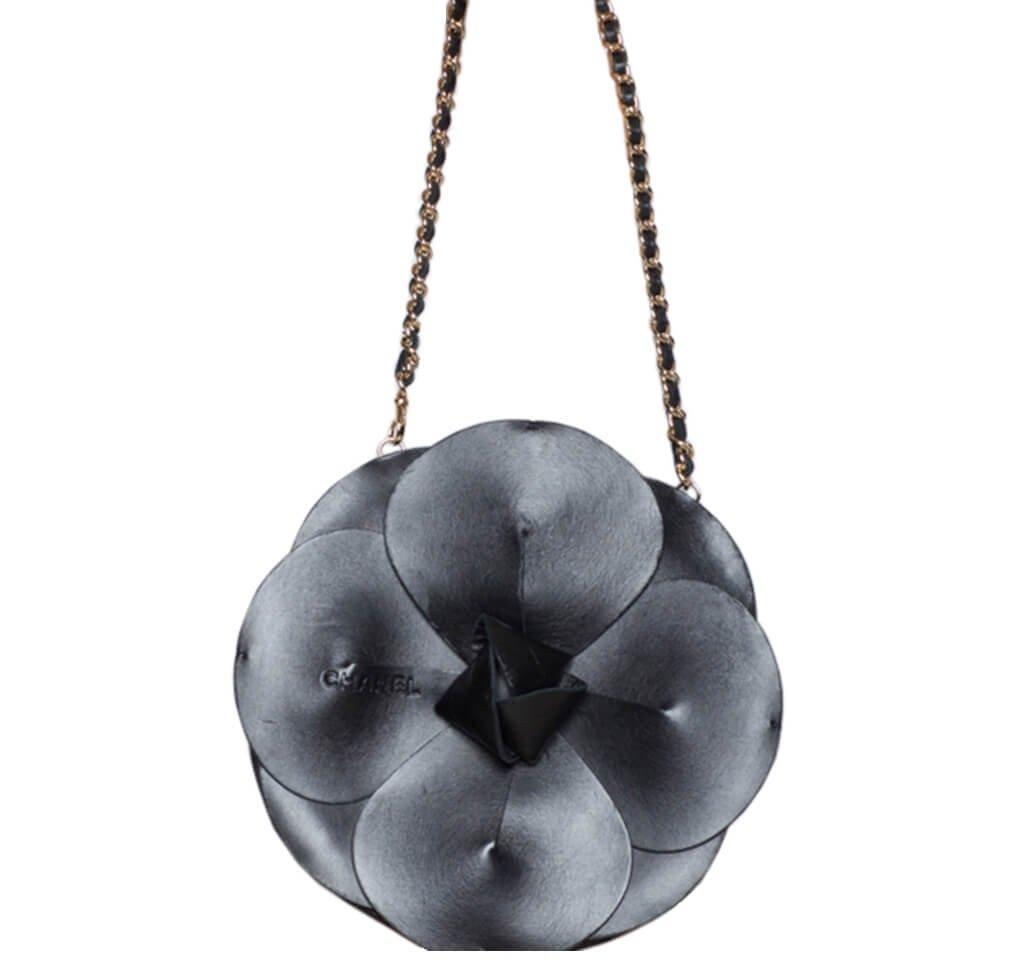 48eaf2938d504 Chanel Camellia Bag Black Satin - Runway Limited Edition | Baghunter