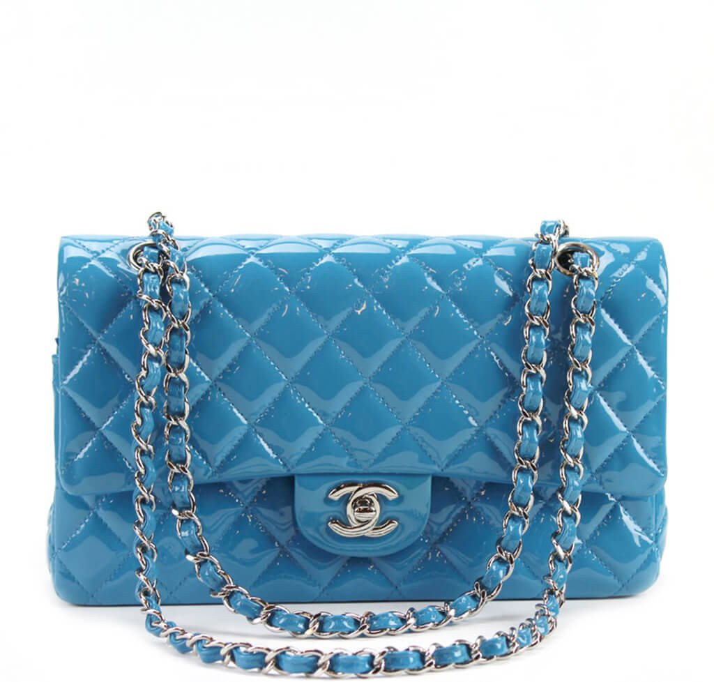 bec1f98e5a33c4 Chanel Classic Jumbo Flap Bag Light Blue - Silver Hardware | Baghunter