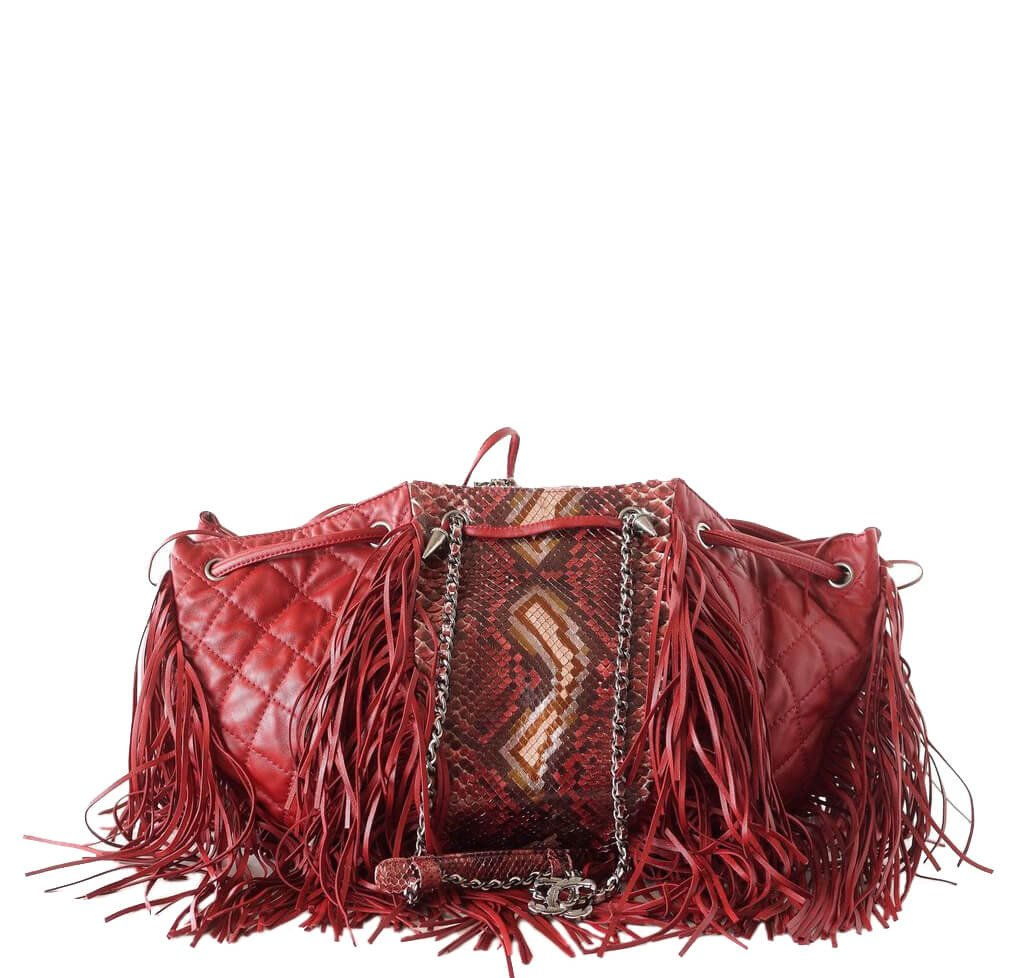 c271fc07986c Chanel Dallas Collection Bag Python Red - Fringed Sides