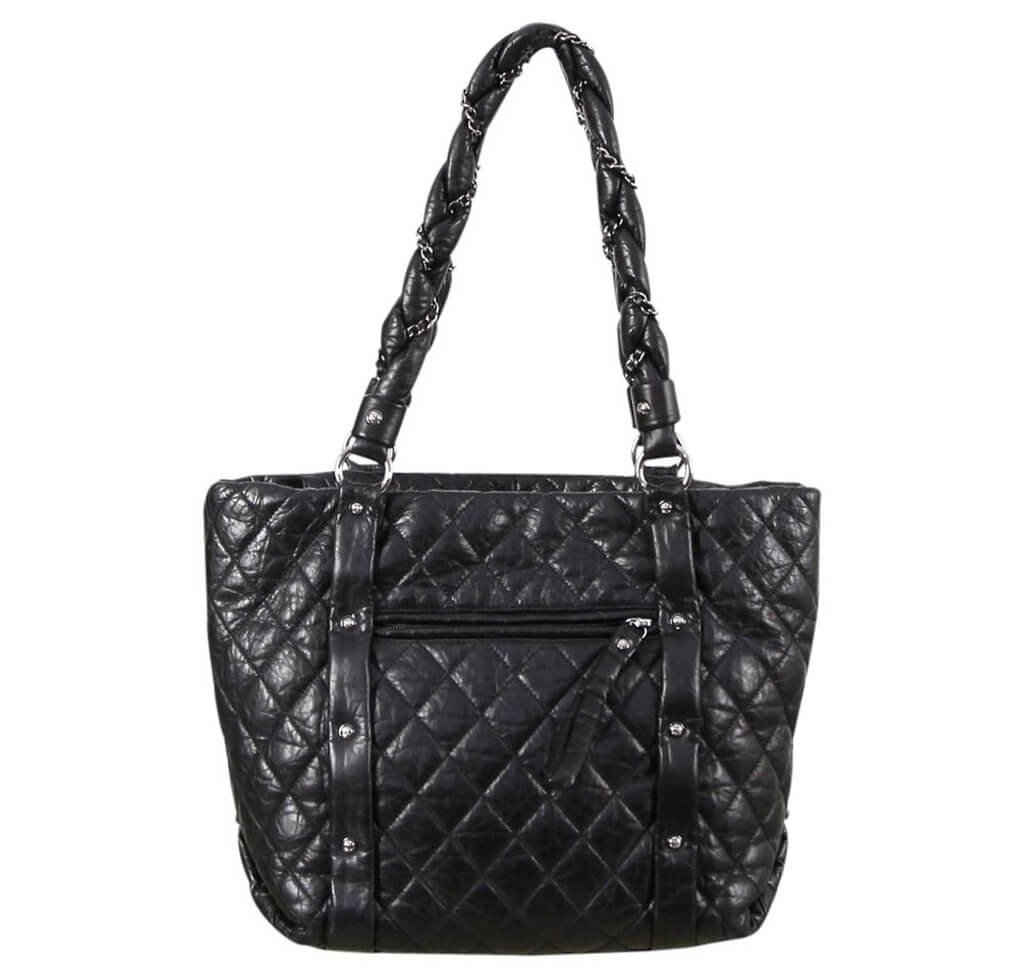 3e34e52e1037 Chanel Grand Shopping Tote Black Calfskin Leather - Gunmetal