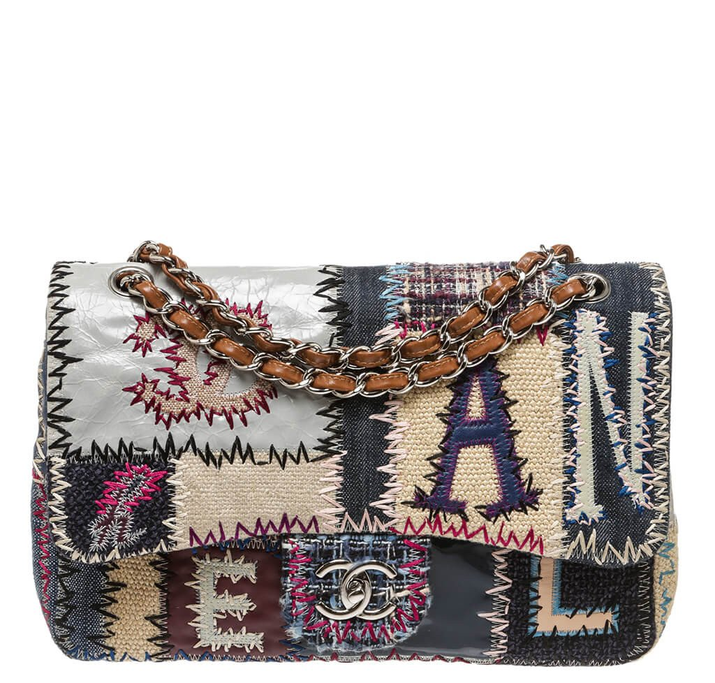 e58b7e66115570 Chanel Jumbo Flap Bag Limited Edition Patchwork - Multi-Color ...