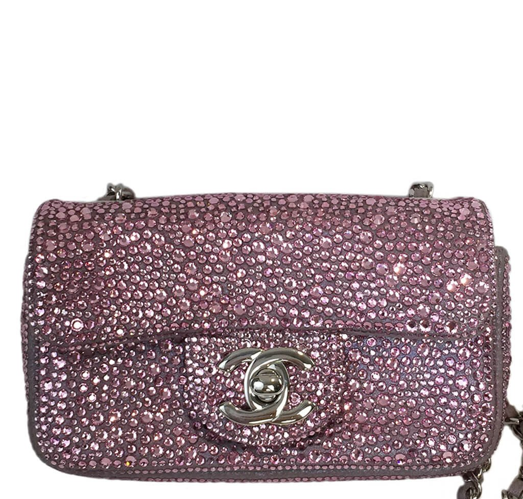 f82152efb52 Chanel Mini Bag Pink Swarovski Crystals - One of a Kind | Baghunter