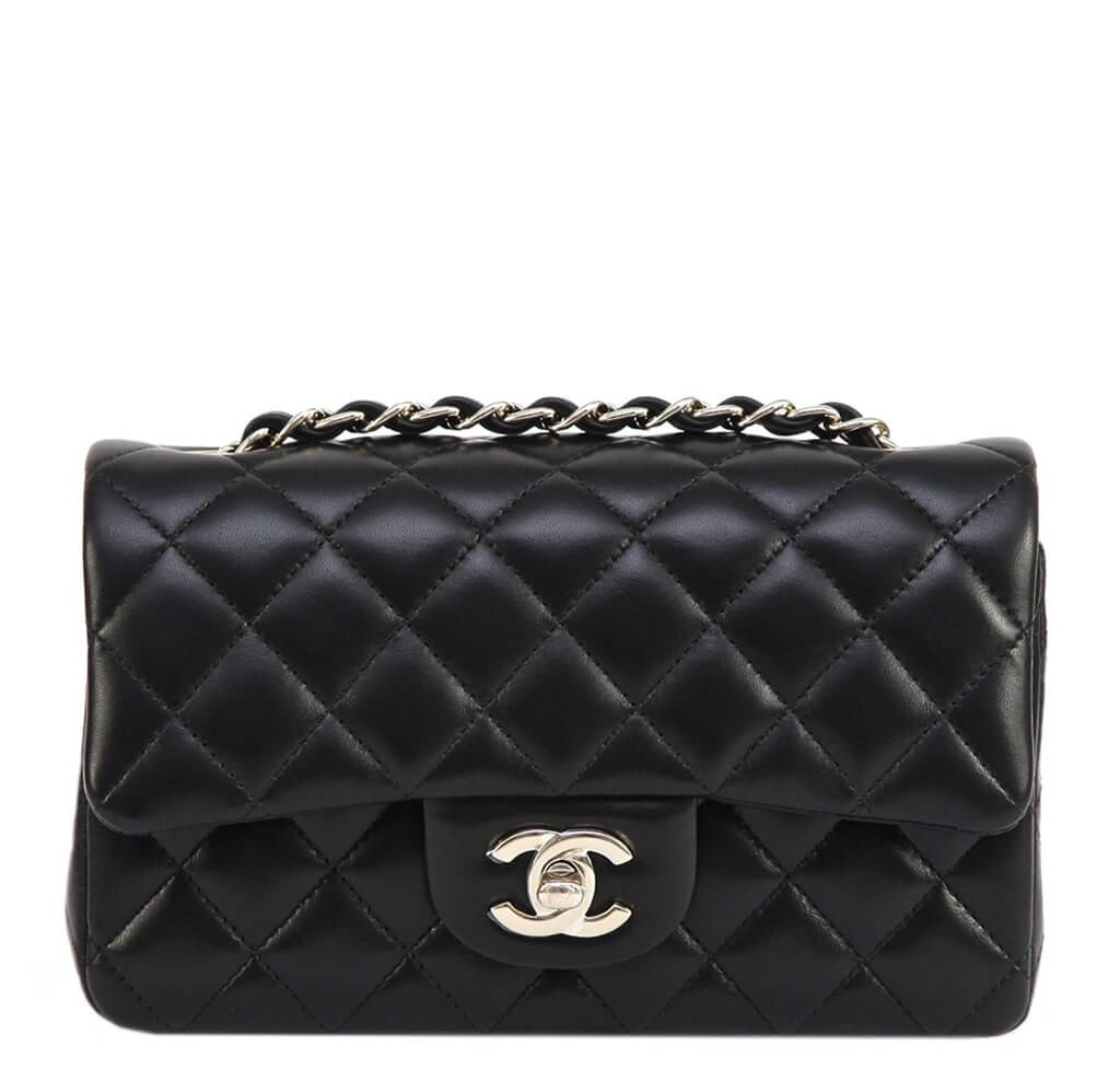 71a146cac763 Chanel Mini Shoulder Bag Black - Lambskin Leather Gold Hardware ...