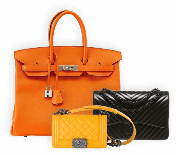 Hermes and Chanel bags