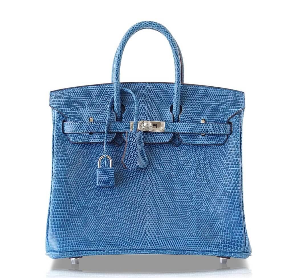 Hermès Birkin 25 Bag Mykonos Lizard PHW