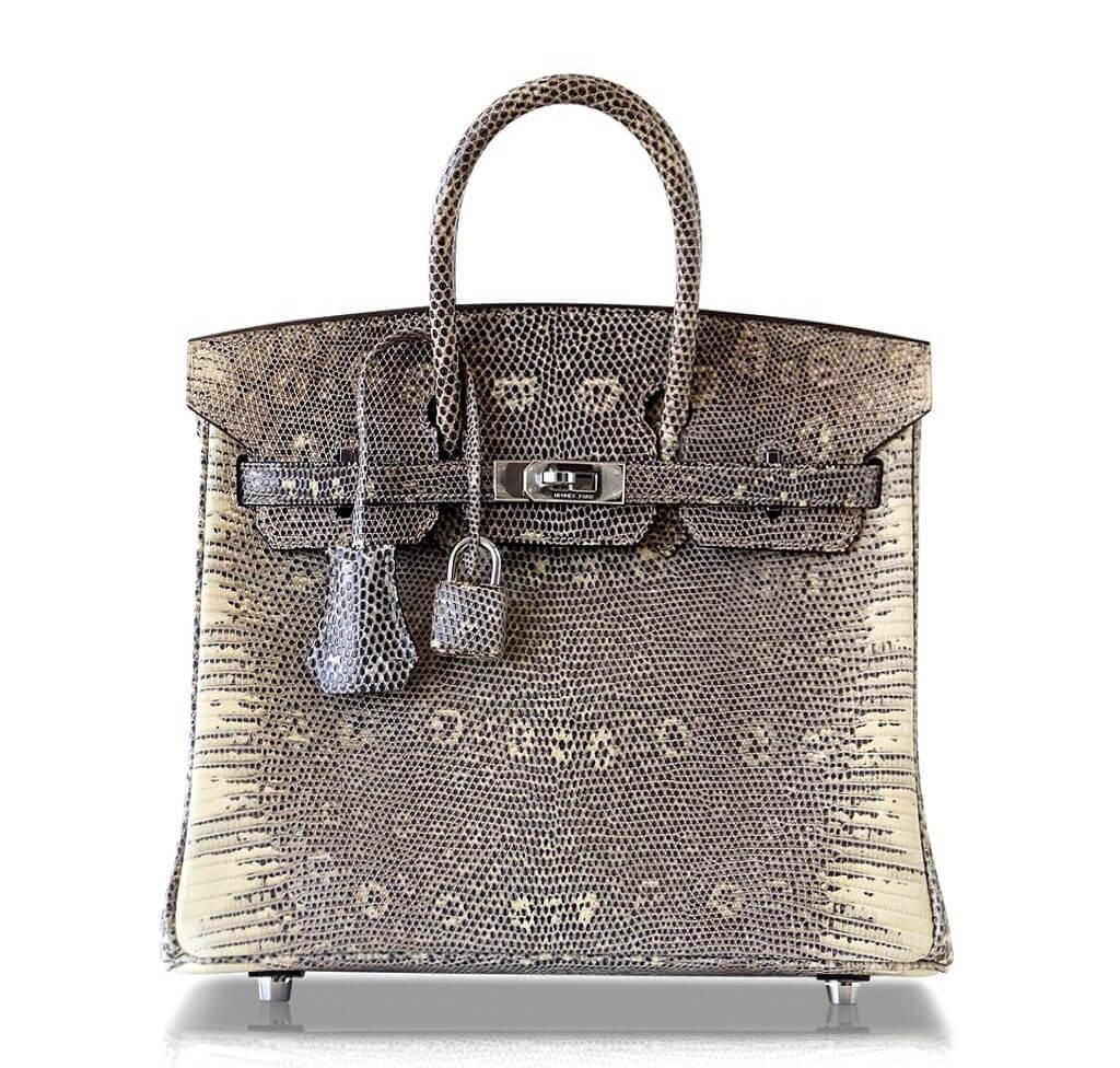 Hermès Birkin 25 Bag Ombre Lizard PHW