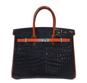 Hermès  Bi-Color Birkin Crocodile Bag 25cm