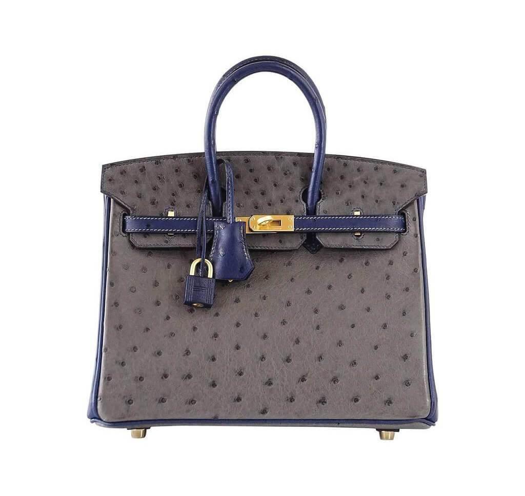 Hermès Birkin 25 HSS Two-Tone Ostrich Bag