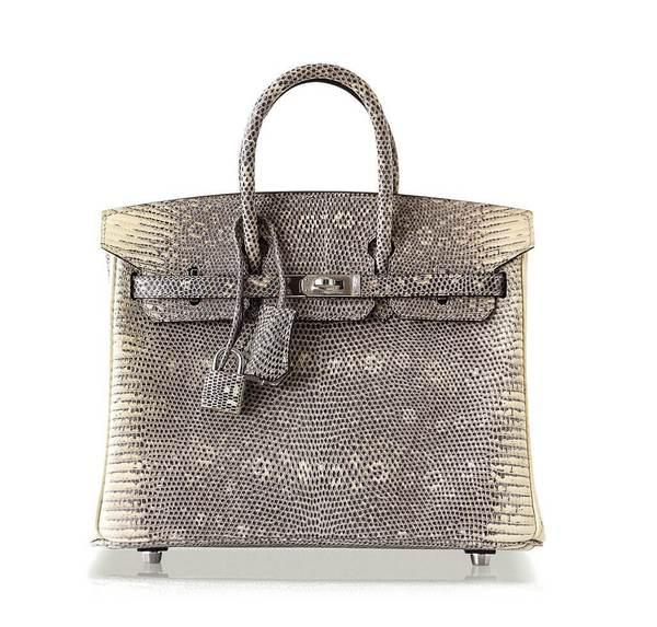 Hermès Birkin 25 Ombre Lizard Bag PHW
