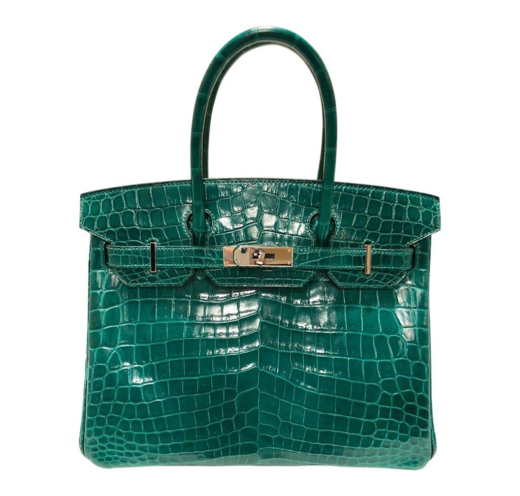 Hermès Birkin 30 Bag Emeraude Niloticus Crocodile PHW