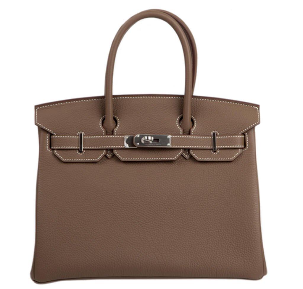 Hermès Togo Birkin 30 Bag Etoupe PHW