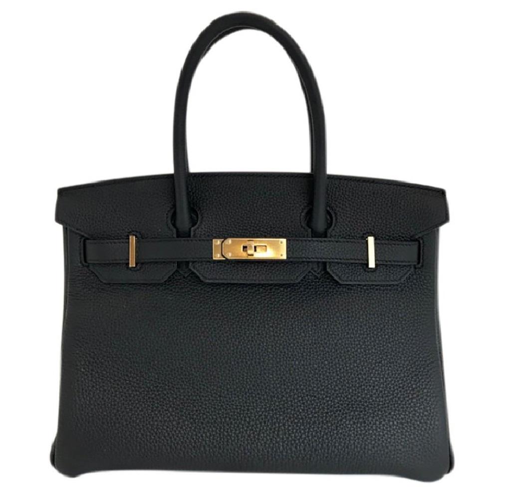 Hermès Birkin 30 Bag Noir Black Togo GHW
