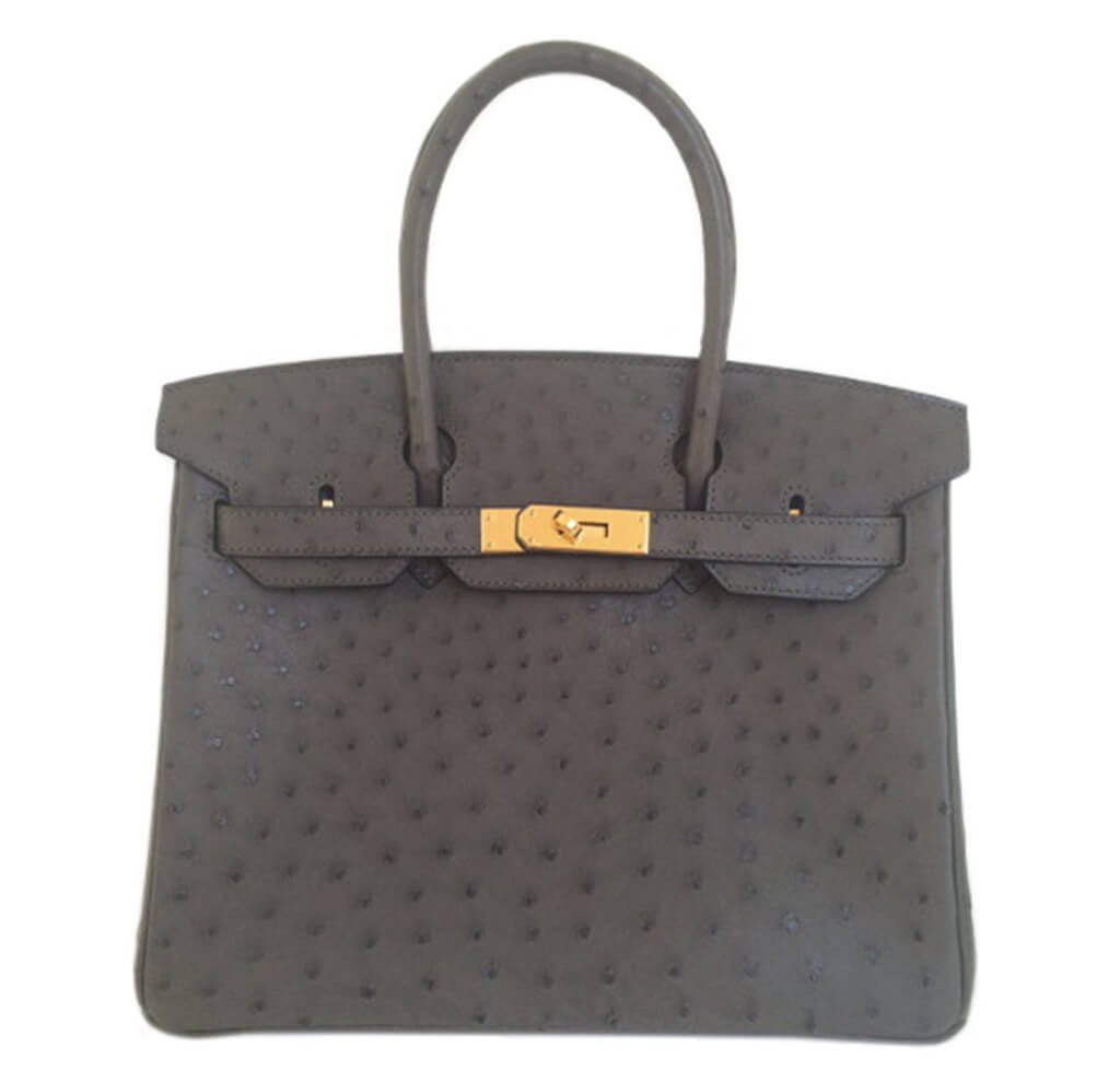 Hermès Birkin 30 Ostrich Graphite Bag