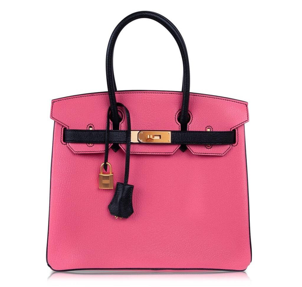 Hermès Birkin 30 Rose Lipstick Noir HSS