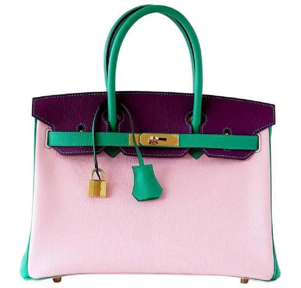 Hermès Birkin 30 Tri-Color Chevre Horseshoe Bag GHW