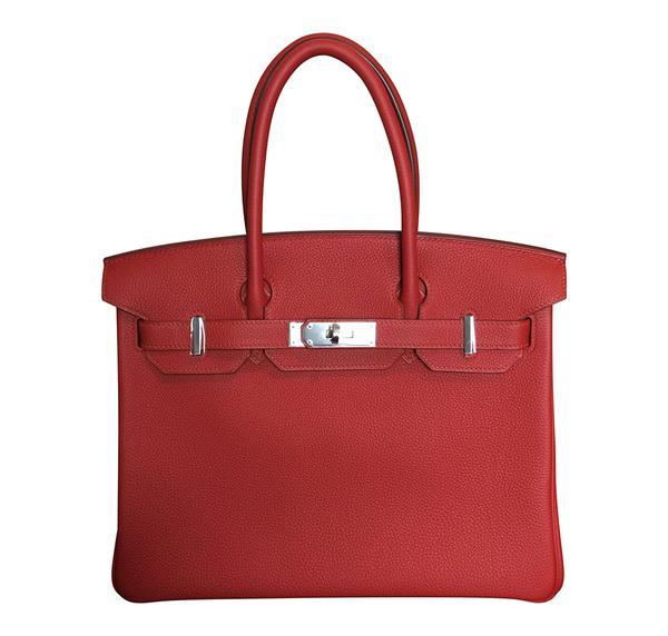 Hermès Birkin 30 Vermilion Veau Togo Bag PHW