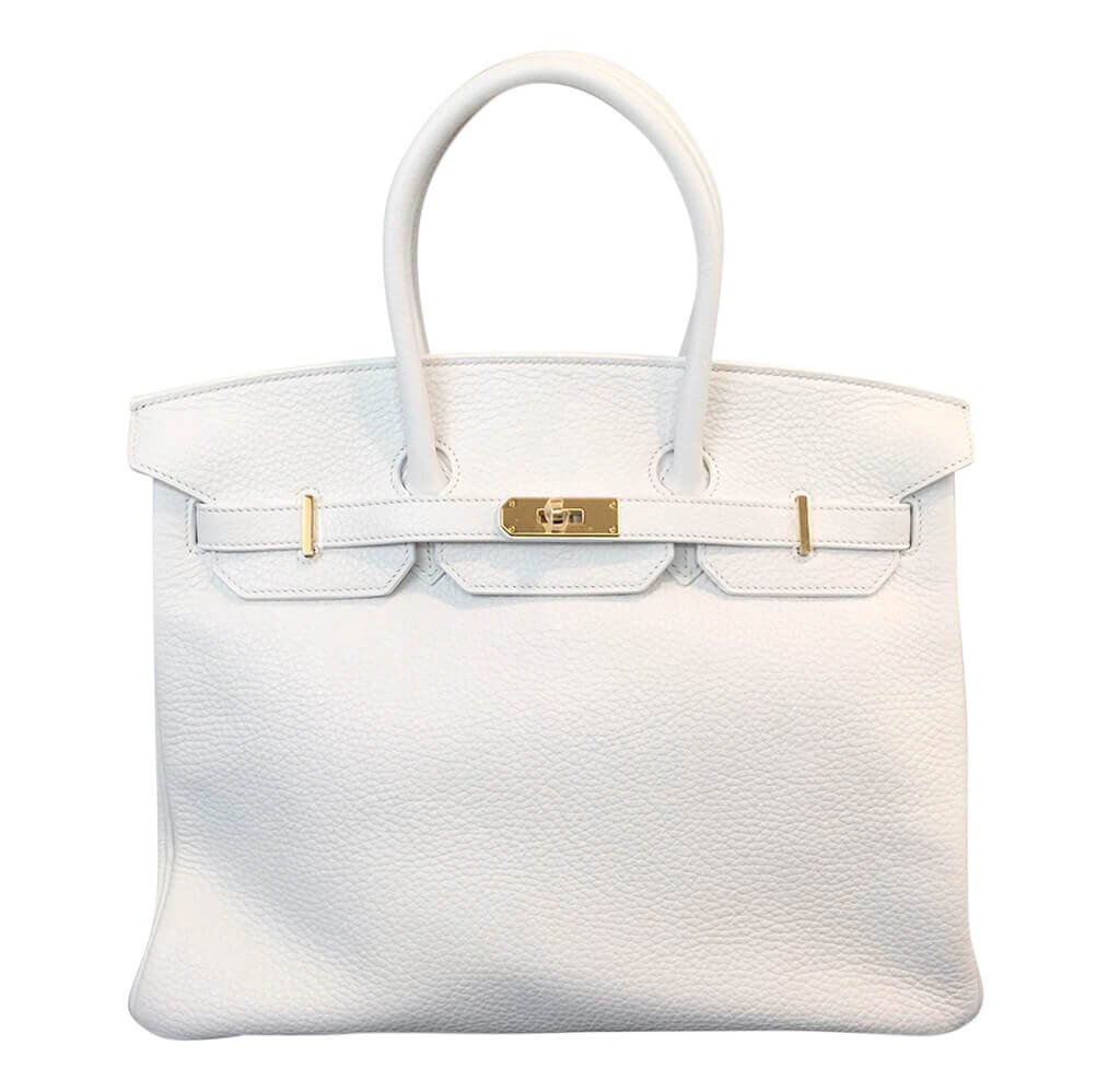 9152aed29f Hermès Birkin 35 Bag Blanc Taurillon Clemence Leather - GHW