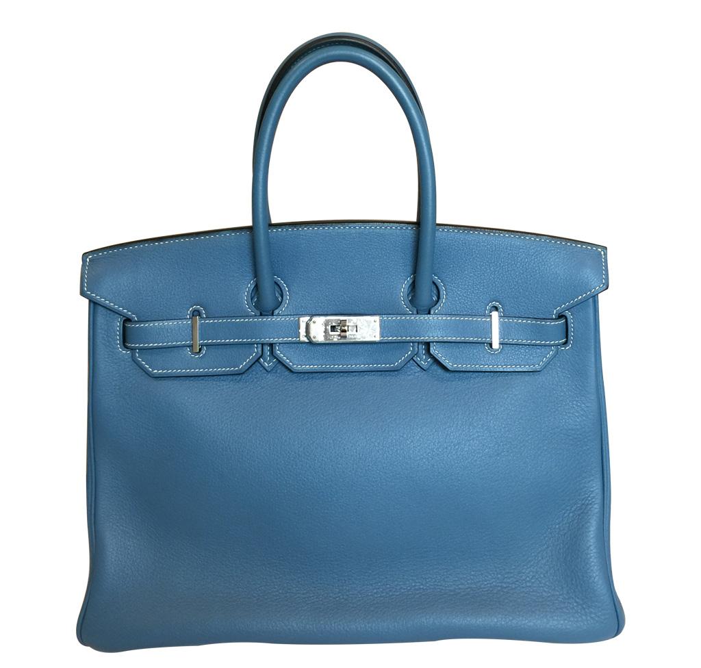 Hermès Blue Jean Birkin 35cm Bag PHW