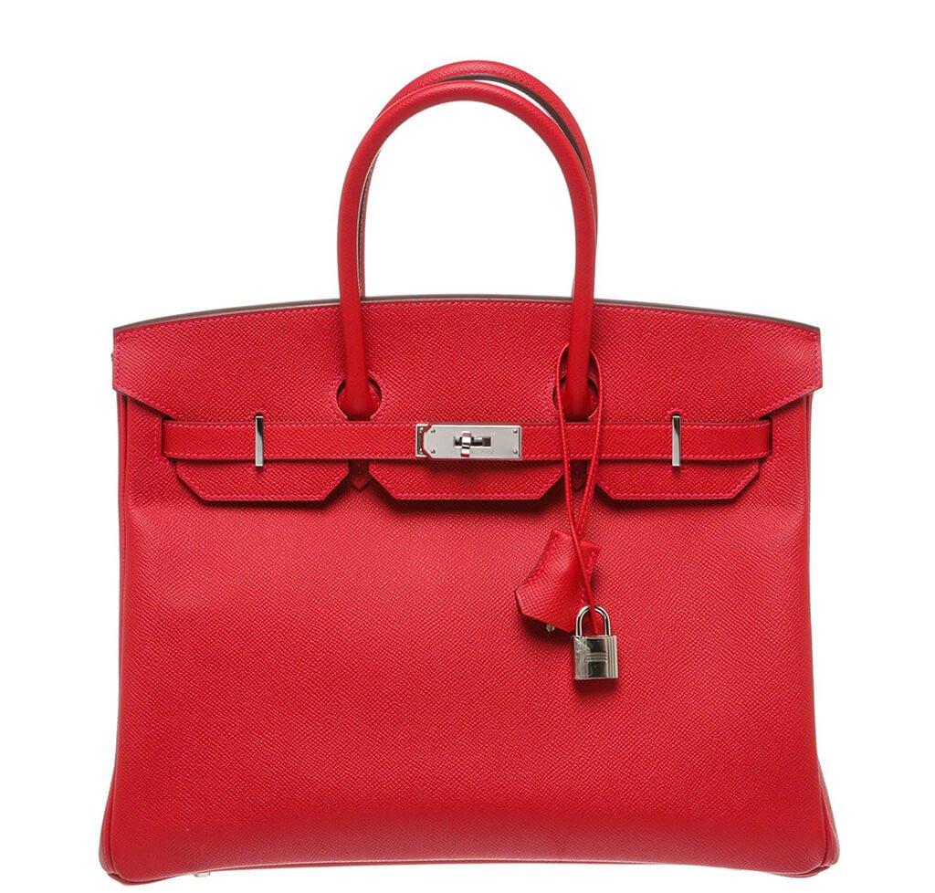Hermès Birkin 35 Bag Rouge Casaque Epsom