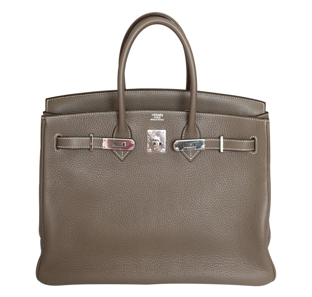 Hermès Etoupe Birkin Bag 35cm PHW
