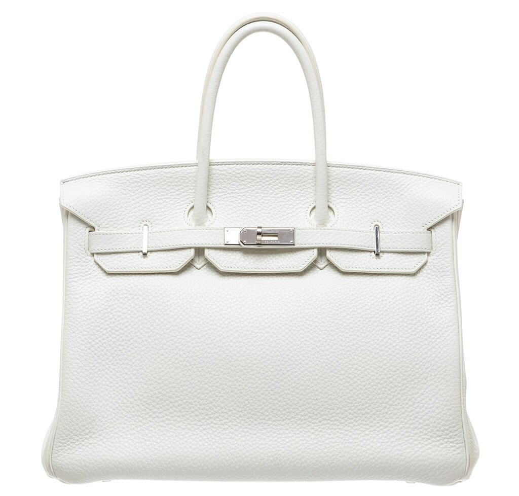 ab8ff73d0a962 Hermès Birkin 35 Bag White Togo Leather PHW