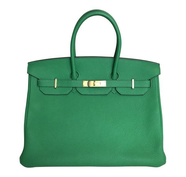 Hermes Birkin 35 Bamboo Green Togo GHW Bag