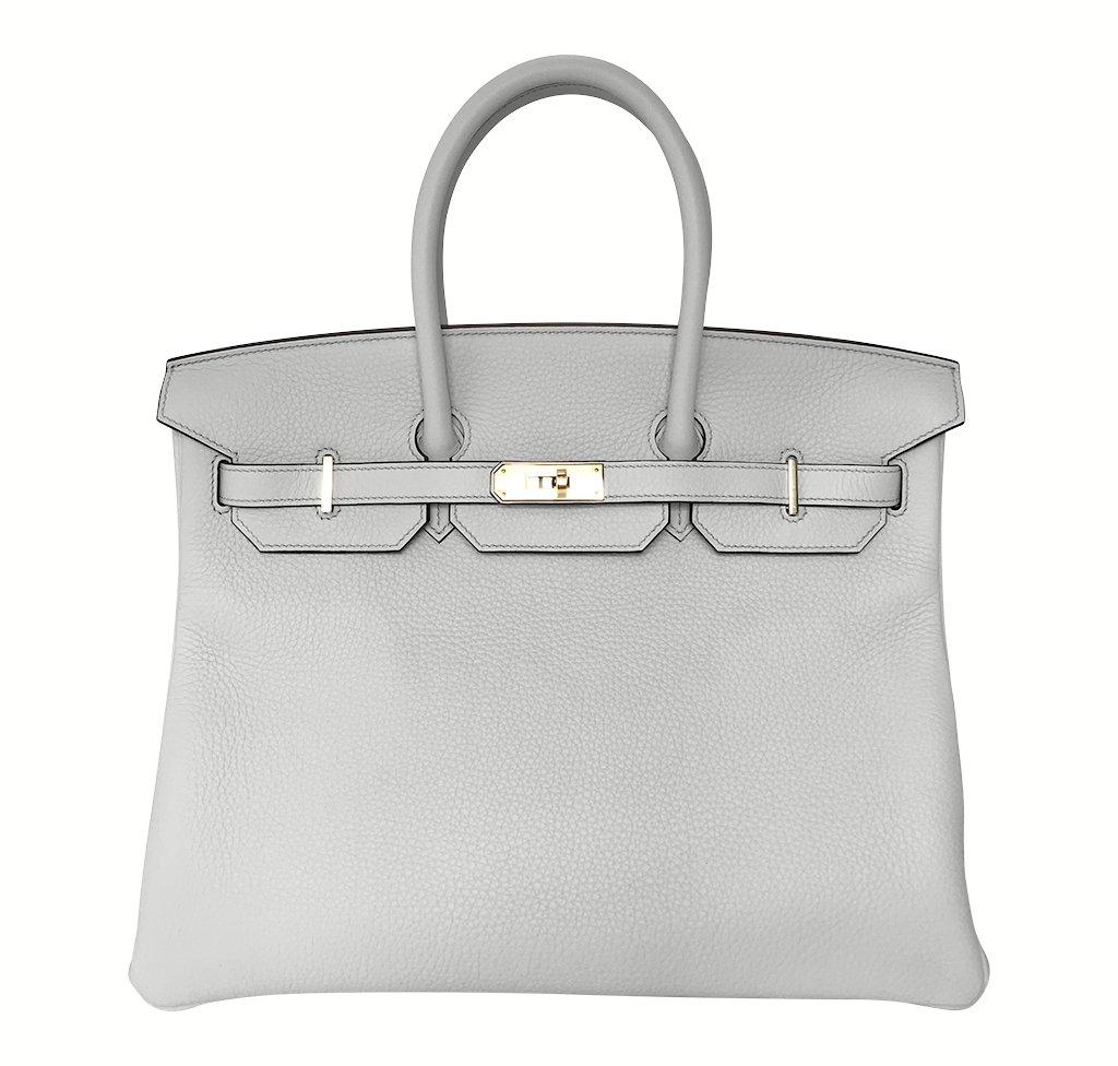 Hermès Birkin 35 Bleu Pale Bag GHW