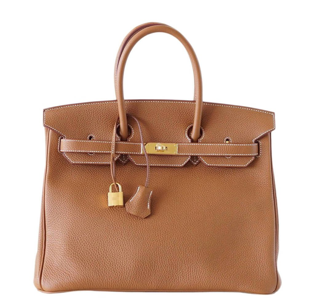 91e48268f7 Hermès Birkin 35 Gold Bag Togo Leather - Gold Hardware