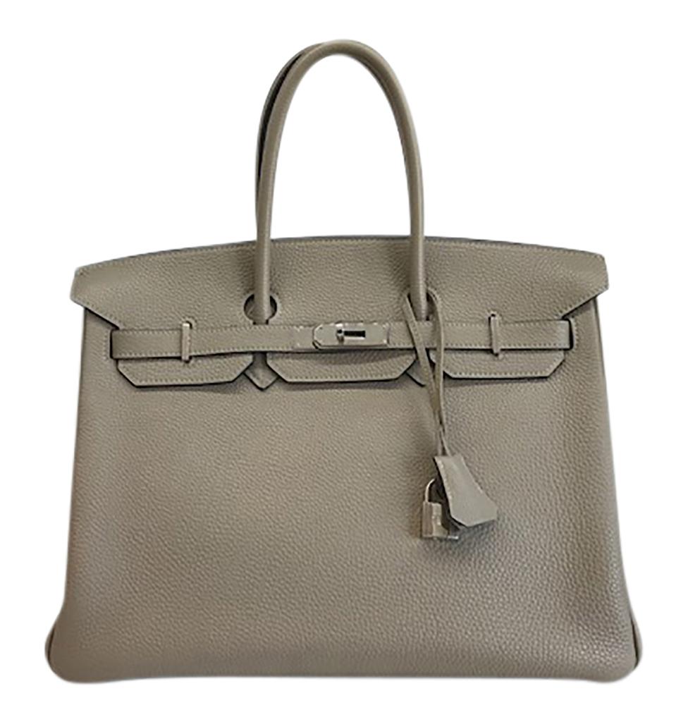Hermes Birkin 35 Gris Tourterelle Leather PHW