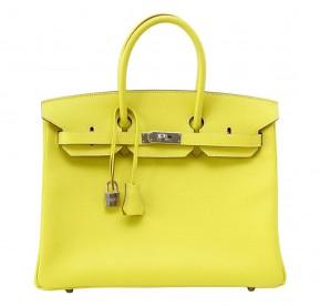 Hermès Lime Candy Series Birkin 35 Limited Edition Bag
