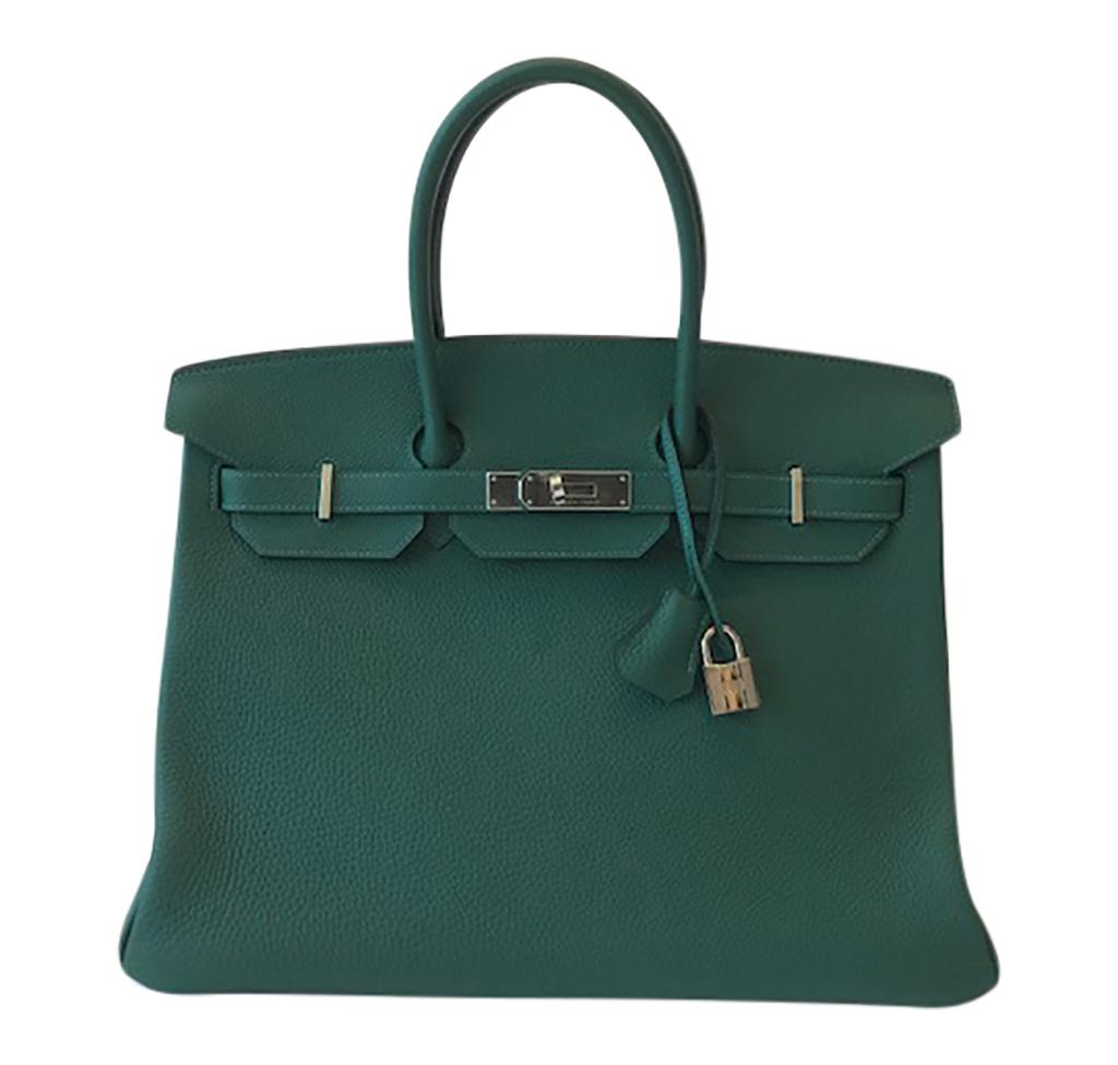 Hermès Togo Birkin 35cm Bag Malachite PHW