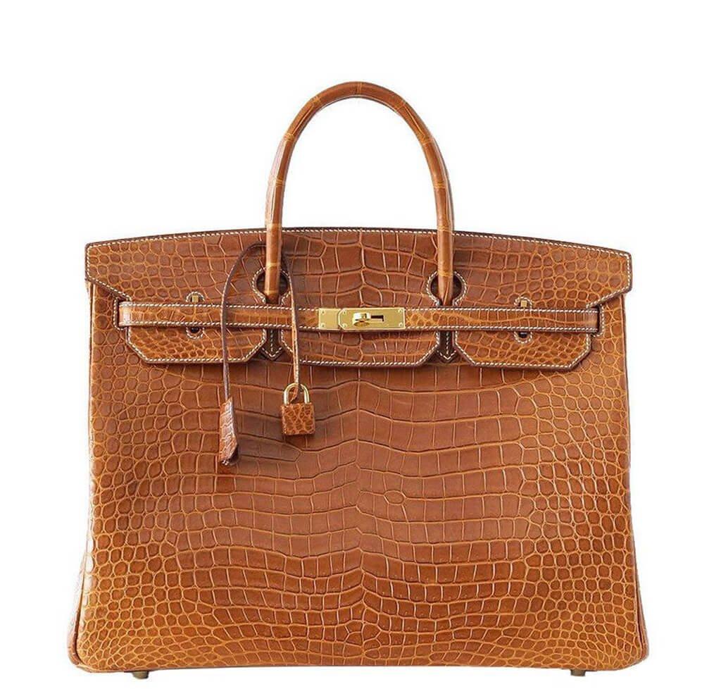 b7f46b48d6db Hermès Matte Porosus Crocodile Fauve Birkin 40 Bag