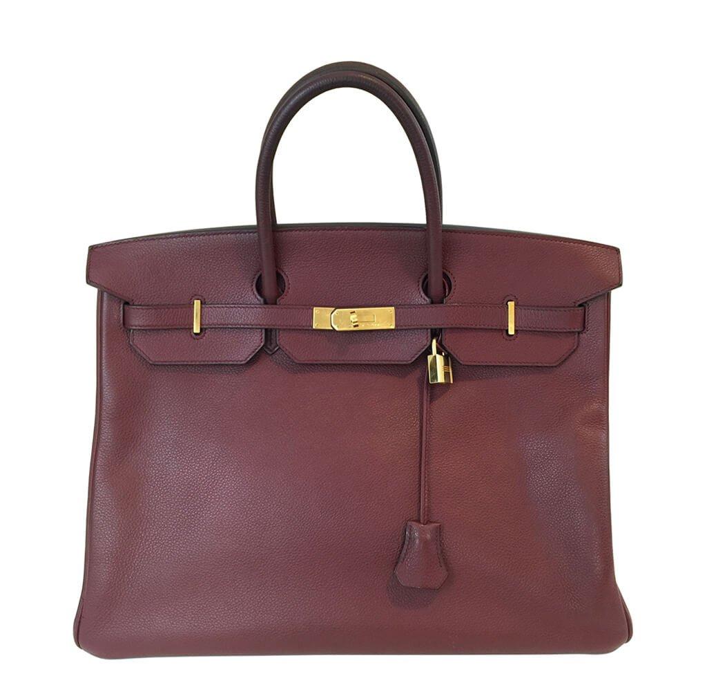 Hermès Rouge H Togo Birkin 40 Bag