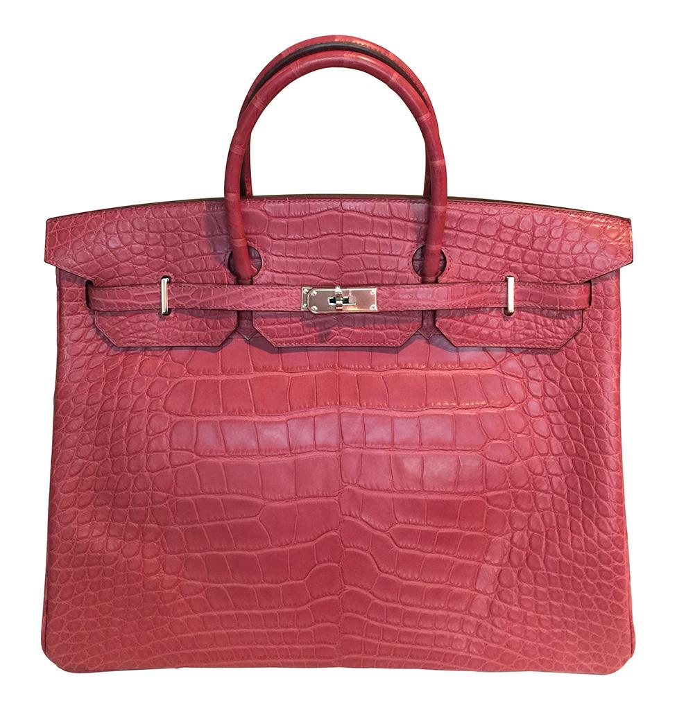 Hermès Alligator Birkin Bag Fuchsia 40cm