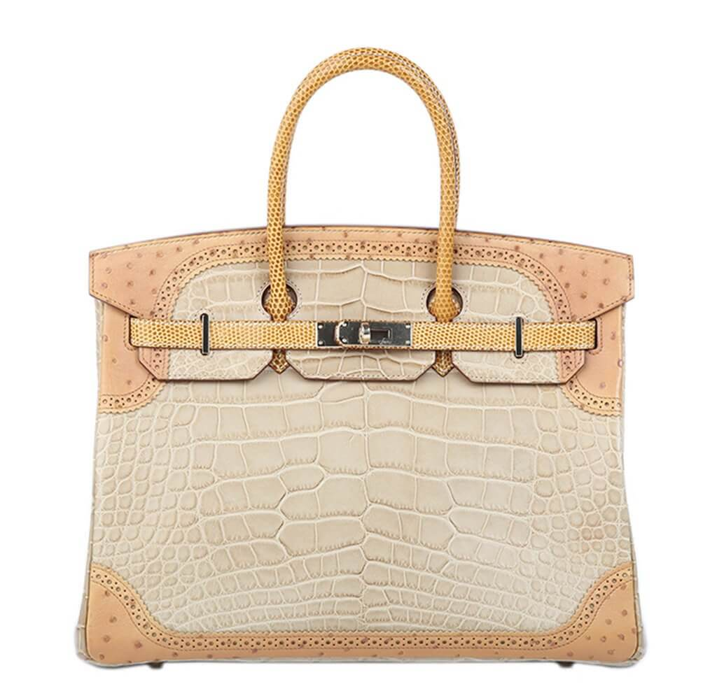 Hermès Ghillies Birkin 35 Tri-Color Alligator Bag cc1cb2c73b108