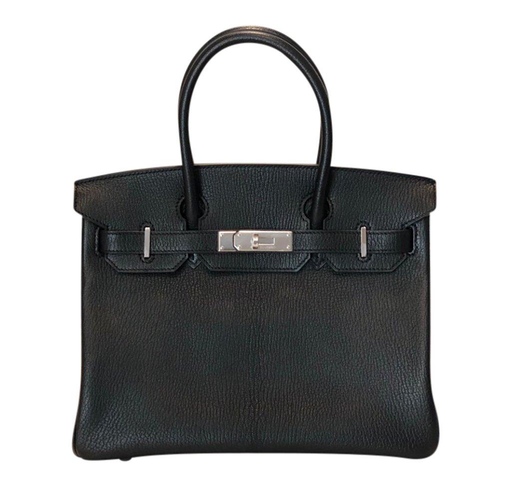 Hermès Birkin 30 Special Order Black/Gris Chevre PHW