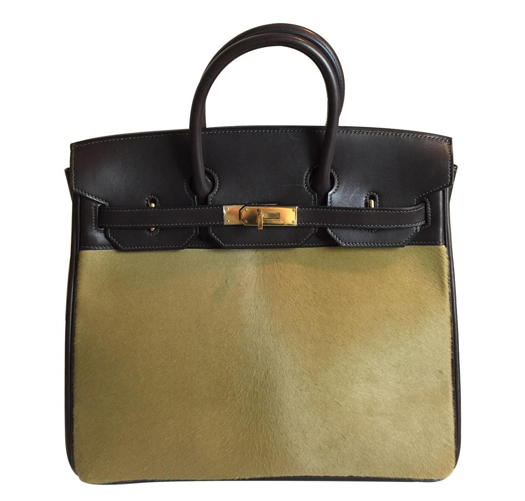 03015bb53e6e Hermès Troika Birkin Bag - Evercalf   Pony Hair