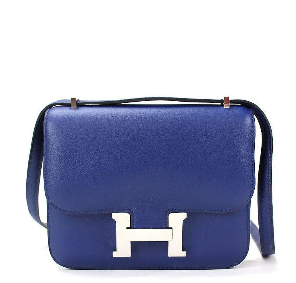 Hermès Constance 18 Blue Izmir Bag PHW 74ded79f33
