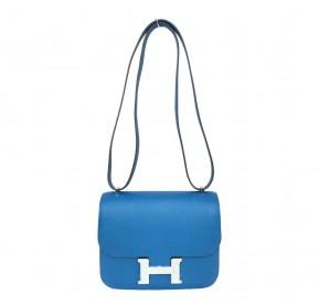 Hermès Constance 18 Blue Izmir Epsom Bag b00425a8b5