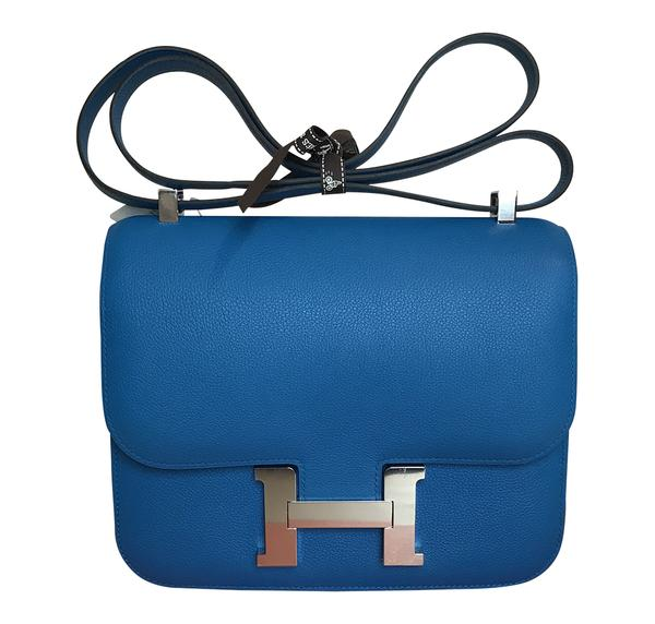 Hermès Constance 24 Bag Bleu Zanzibar Evercolor PHW