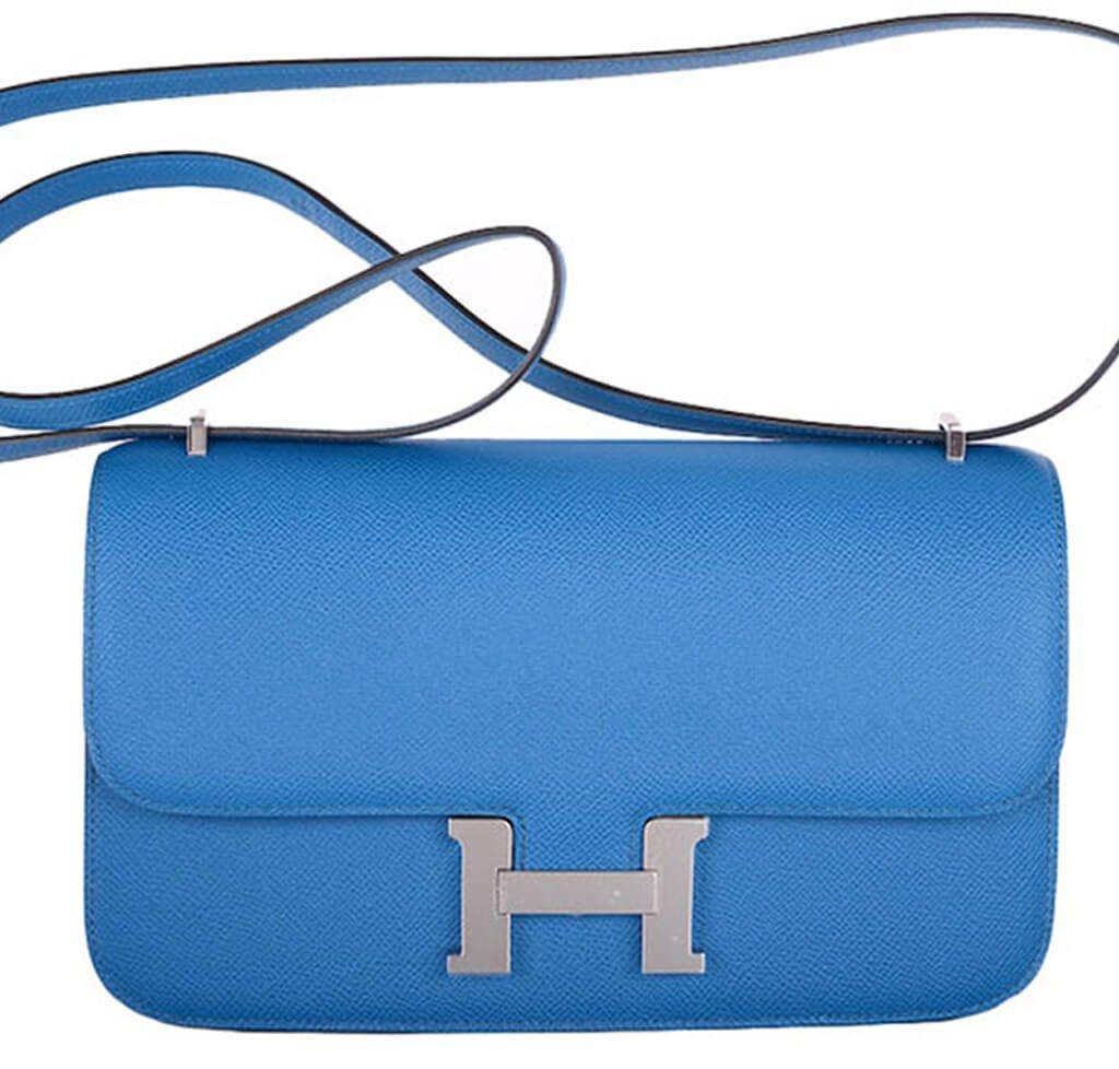 Hermès Constance Elan Bag 25 Blue Izmir Epsom cc8d8d38b2