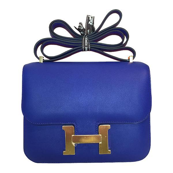 Hermès Constance Mini 18 Bleu Electrique Swift GHW