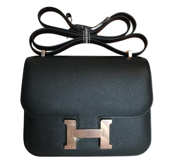 Hermès Constance Mini Bag Noir Epsom Rose Gold HW