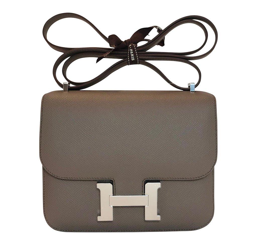 Hermès Constance Mini Gris Etain Epsom PHW