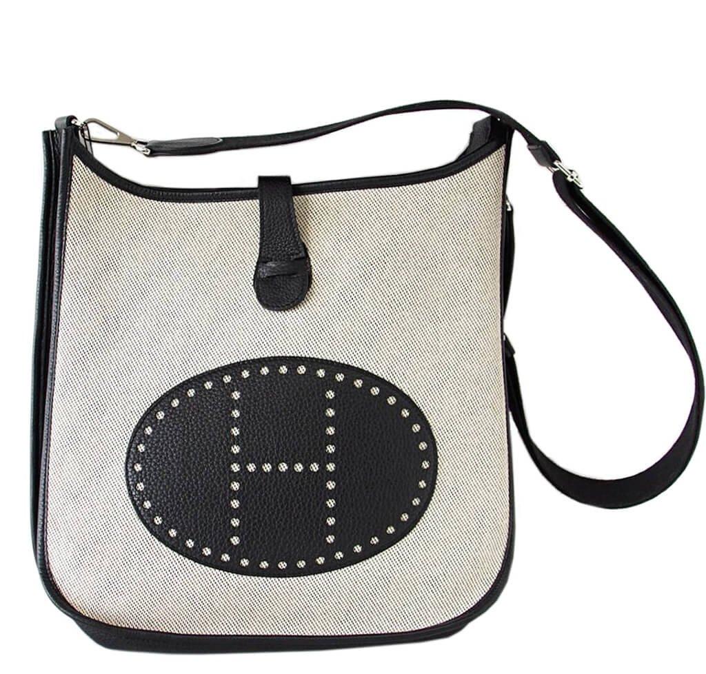 Hermes Evelyne Gm Bag Noir Toile