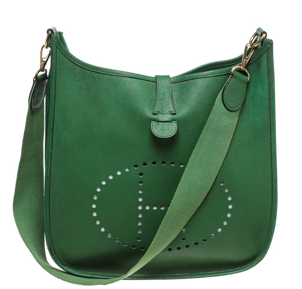Hermes Evelyne I Bag Green Epsom