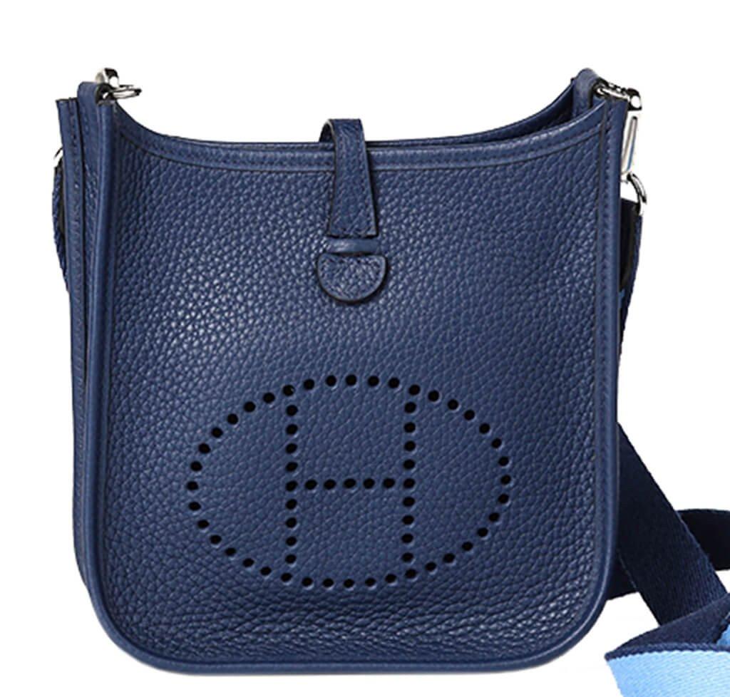 Hermès Evelyne Mini Bag Bleu Saphir Togo